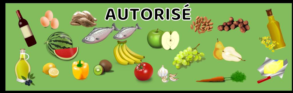 GAPS aliments autorisés