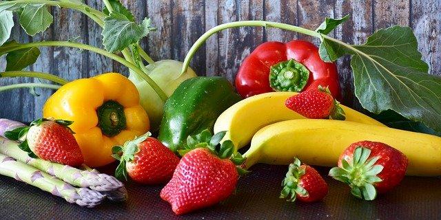 fruit et légumes pour une bonne alimentation riche en antioxydant