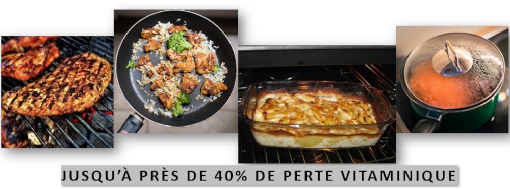 La cuisson des aliments impacte négativement la teneur en vitamine Cativement la teneur en vitamice C