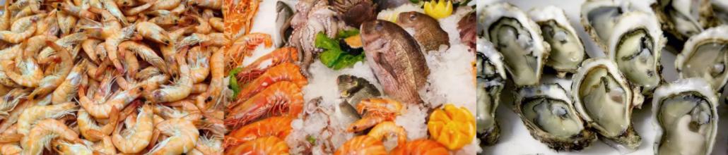 Les fruits de mer, crustacés et mollusques contiennent du calcium en bonne quantité